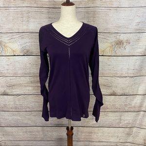 Climawear Yasmie Purple Long Sleeve Top